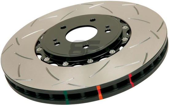 Picture of DBA Slotted 5000 Series 2 Piece Rotor w/ Black Hat (Front)
