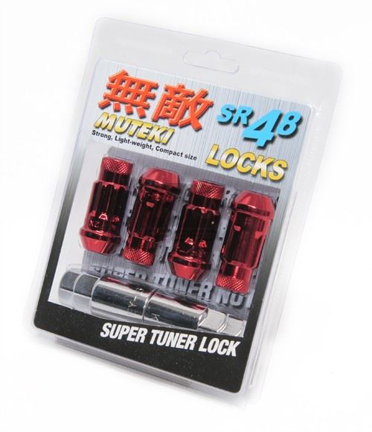 Picture of Muteki SR48 Lug Nuts : Red : 12x1.25 : 4pk Lock Set