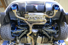 Picture of MXP SP Dual Tip Cat back Exhaust w/ Burnt Tips FRS/BRZ/86
