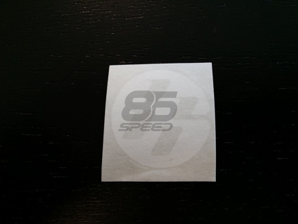 Picture of FT86 Round Medallion Sticker, Medium, White (Pair)