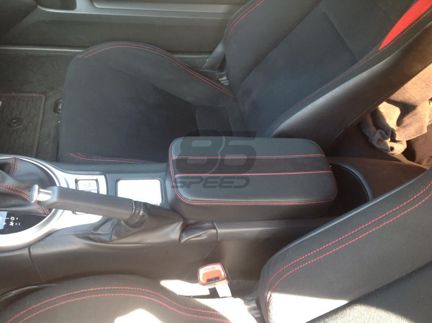 Picture of Foam Armrest - Black with Red Stitch