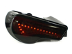 Picture of VSQ Valenti Style Sequential LED Taillights - Smoke Lens / Red Bar / Black Housing