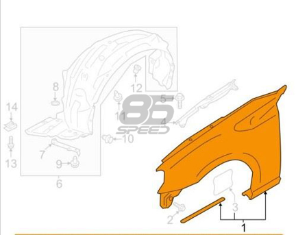 Picture of Toyota OE Mud Guard Fender Liner LH