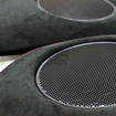 Picture of JPM Coachworks OEM Speaker Trim Black Alcantara Red Stitching (DISCONTINUED)
