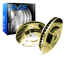 Picture of R1 Concepts E Line  Brake Rotors - Rear (Gold)