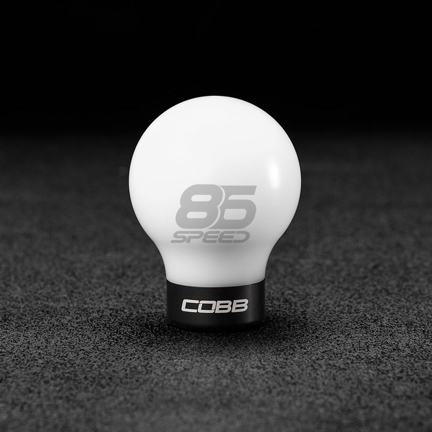 Picture of COBB 6-Speed Delrin Shift Knob - White w/ Stealth Black