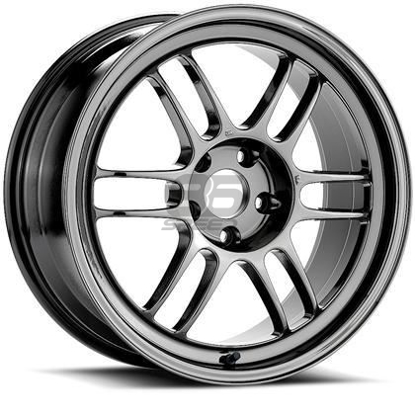 Picture of Enkei RPF1 18x9.5 5x100 +38 Shiny Black Chrome Wheel