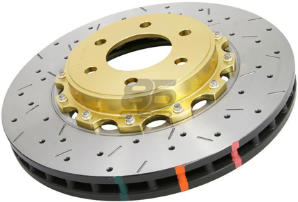Picture of DBA Drilled & Slotted 5000XS Series Rotor w/ Gold Hat (Front / Performance Package)