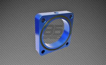 Picture of Torque Solution Throttle Body Spacer (Blue): Subaru BRZ / Scion FR-S 2013+