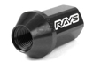 Picture of Rays Dura-Nut L42 12x1.25 Straight Type Black Lug Nuts w/Locks