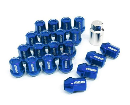 Picture of DURA-NUT L32 STRAIGHT TYPE 12X1.25 16 LUG + 4 LOCK SET - BLUE ALMITE
