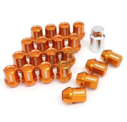 Picture of DURA-NUT L32 STRAIGHT TYPE 12X1.25 16 LUG + 4 LOCK SET  - ORANGE ALMITE