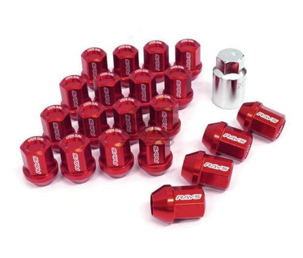 Picture of DURA-NUT L32 STRAIGHT TYPE 12X1.25 16 LUG + 4 LOCK SET -  RED ALMITE