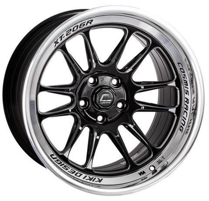 Picture of Cosmis XT-206R 18x9 5x100 +33 Black + Machined Lip