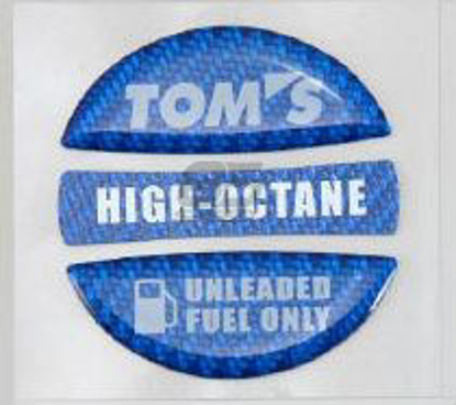 Picture of TOMS Racing Gas Cap Over Lay Carbon Blue High Octane
