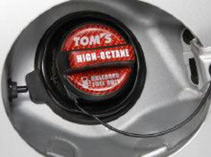 Picture of TOMS Racing Gas Cap Over Lay Carbon Red High Octane