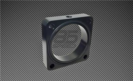 Picture of Torque Solution Black Throttle Body Spacer 2013+ FRS/BRZ/86