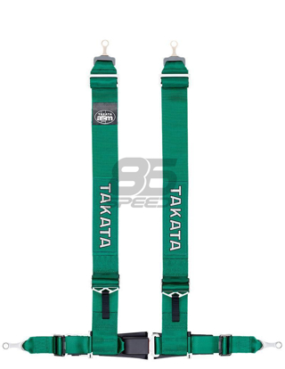 Picture of Takata ASM Drift III 4-Point Bolt-On Harness (Takata Green)