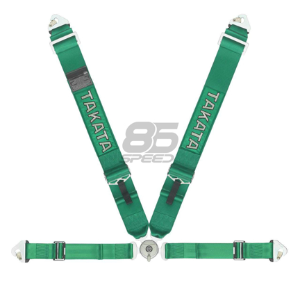 Picture of Takata ASM Race 4-Point Snap-On Harness (Takata Green)