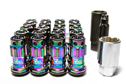 Picture of Project Kics R40 Iconix M12x1.25 Neo Chrome  Lug Nuts w/Locks