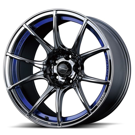 Picture of WedsSport SA10R 18x9.5 +45 5x100 Blue Light Chrome