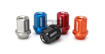 Picture of Rays Dura-Nut L42 12x1.25 Straight Type Red Alumite Lug Nuts w/Locks