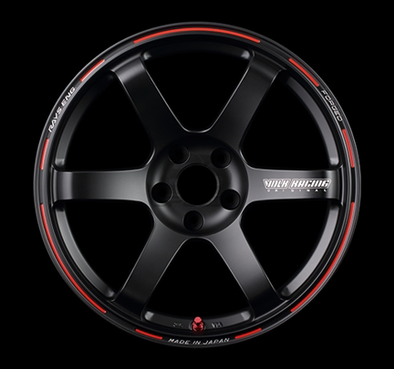 Picture of Volk TE37 SAGA Time Attack Edition 18x9.5 +42 5x100 Black/Red (Face 3)