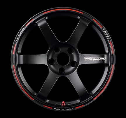 Picture of Volk TE37 SAGA Time Attack Edition 17x8.5 +44 5x100 Black/Red (Face 2) (DISCONTINUED)