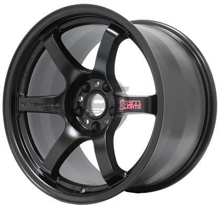 Picture of Gram Lights 57DR 18x8.5 +37 5x100 Semi Gloss Black Wheel