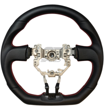 Picture of OEM Style Fit Black Leather Steering Wheel w/Red Stitching FRS/BRZ/86
