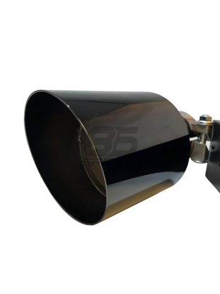 Picture of MXP Comp RS Slash Cut Exhaust Tip Black Chrome (PAIR) FR-S BRZ