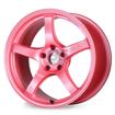 Gram Lights 57CR 17X9 5x100 +38 Sakura Pink Wheel