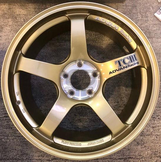Picture of Advan Racing TCIII 18x9.5 +45 5-100 Racing Gold Metallic