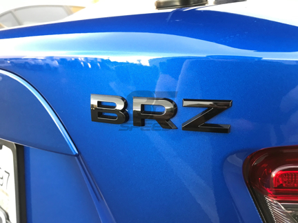BRZ Black Letter Trim Kit