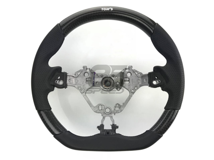 Picture of TOMS Racing Carbon & Black Leather Steering Wheel 2017 Toyota 86