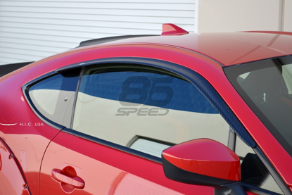 Picture of H.I.C. Side Window Visors Carbon Fiber (Set of 2) FRS / BRZ / 86
