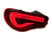 Picture of VRQ LED Sequential Taillights - Red Lens / White Bar / Black Housing