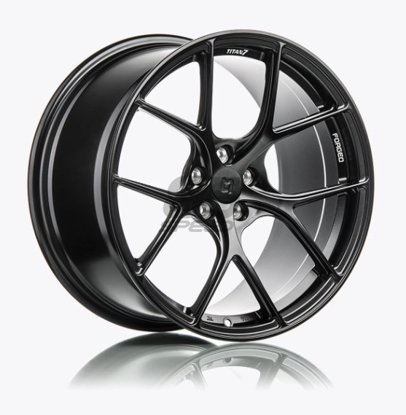 Picture of Titan 7 T-S5 17x9 +37 5x100 Machine Black - FRS/86/BRZ