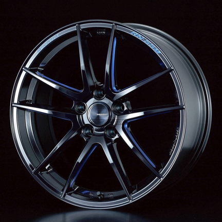 Picture of Weds RN-55M 18x9.5+45 5x100 Black Blue Machine