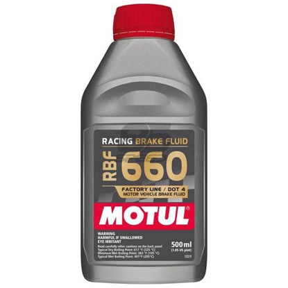 Picture of 101667  -MOTUL Brake Fluid - RBF 660  Size: 1/2L Bottle (16.9 fl.oz.)